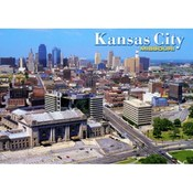 Missouri Postcard (Kc) Kc103 Aerial Skyline Wholesale Bulk