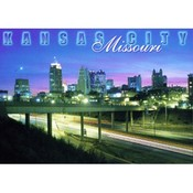 Missouri Postcard (Kc) Kc108 Skyline At Night Wholesale Bulk