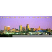 Missouri Postcard (Kc) Kc109 Skyline Night @ River Wholesale Bulk