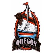 Oregon Magnet 2D Oval Sailboat