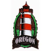 Oregon Magnet 2D Oval Lighthouse