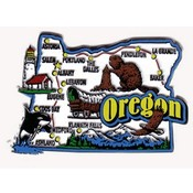 Oregon Magnet 2D Jumbo St Map