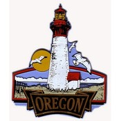 Oregon Magnet 2D Lighthouse