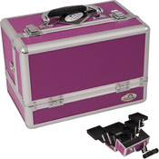 3-Tiers Expandable Trays Purple Makeup Case - CCPP