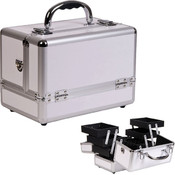 3-Tiers Expandable Trays White Makeup Case