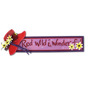 Wooden Red Wild And Wonderful Sign