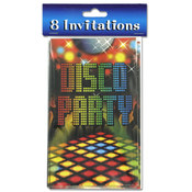 8 Pack Disco Party Invitations with Envelopes