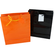 Halloween Gift Bags Assorted Orange And Black