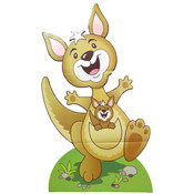 Large VBS Outback Kangaroo Stand-Up Decoration Wholesale Bulk