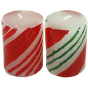 Candy Cane 2 Inch Striped Votive Candle