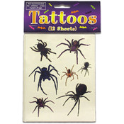 12 Pack Spider And Web Temporar Tattoos