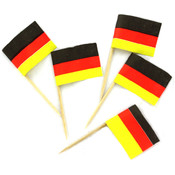 144-Pack German Flag Food Picks Wholesale Bulk