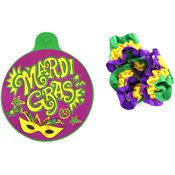 12 Pack Mardi Gras Elastic Arm Band
