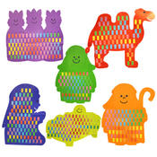 6-Pack Giant Nativity Weaving Boards Wholesale Bulk