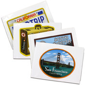 Vacation Theme Window Clings Wholesale Bulk
