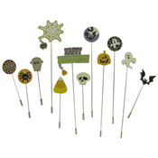 Halloween Stick Pins, Pack of 12 Wholesale Bulk