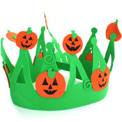 Jack O Lantern Foam Crown With Adjustable Band
