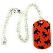 Halloween Dog Tag Necklace