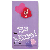 Valentine Girl Pins On Cards