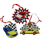 Race Car Ornament - Assorted Styles Wholesale Bulk