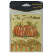 8-Pack Pumpkin Harvest Party Invitations Wholesale Bulk