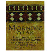Decorative Religious Plaque: Morning Star Wholesale Bulk