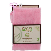 12 x 12 Exfoliating Washcloths- Pink
