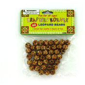 krafters korner 40-Count Wood Leopard-Print Beads Wholesale Bulk