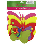 Do-It-Yourself Foam Butterfly Kit- Asst Colors
