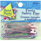 12pc Festive Safety Pins