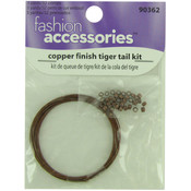 Copper Finish Tiger Tail Kit 3 Yards/32 Crimps