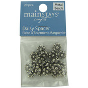 Daisy Spacer Beads, Pack of 20 Wholesale Bulk