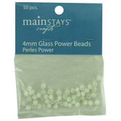 Glass Power Beads, 50 Pieces Wholesale Bulk