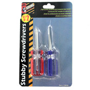 2 Pack Stubby Screwdriver Set