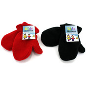 Kids Fleece Mittens, Assorted Colors