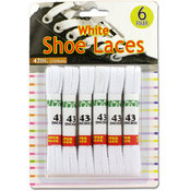 6 Pack White Shoelaces