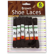 6 Pair Brown Shoelaces