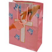 Medium Giftbag- Communion Style- Pink