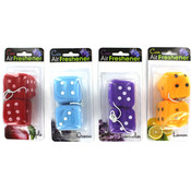 Fuzzy Dice Air Freshener- Assorted Colors/Styles