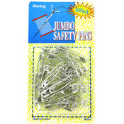 sterling 50-Count Jumbo Safety Pins Wholesale Bulk