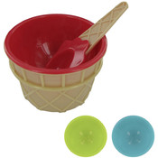 Icecream Cone Bowl&Spoon