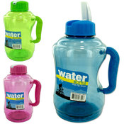 Water Bottle with Flip Straw- Assorted Colors Wholesale Bulk