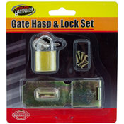 Gate Hasp and Lock Set