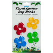 4 Pack Floral Suction Cup Hooks