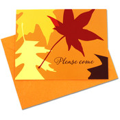 Hallmark Fall Leaves 10 Pack Invites