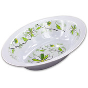 Bulk Buys 10 Oval Bowl With Floral Design Wholesale Bulk