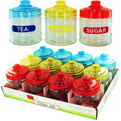 Clr Glass Jar Disp 12Pc