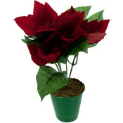 8' Artificial Potted Poinsettia Wholesale Bulk
