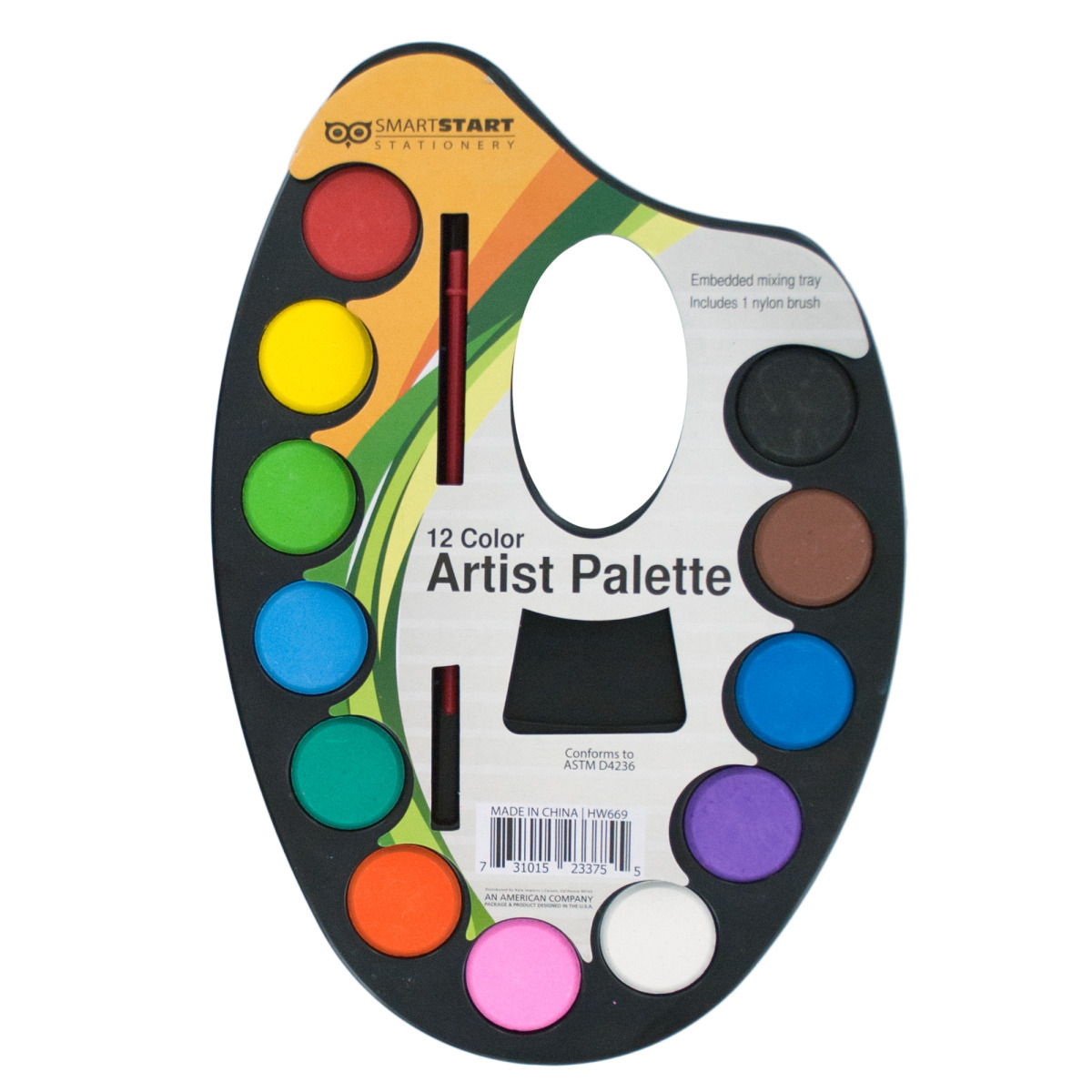 Watercolor PAINT Artist Palette with Mixing Tray [2124095]