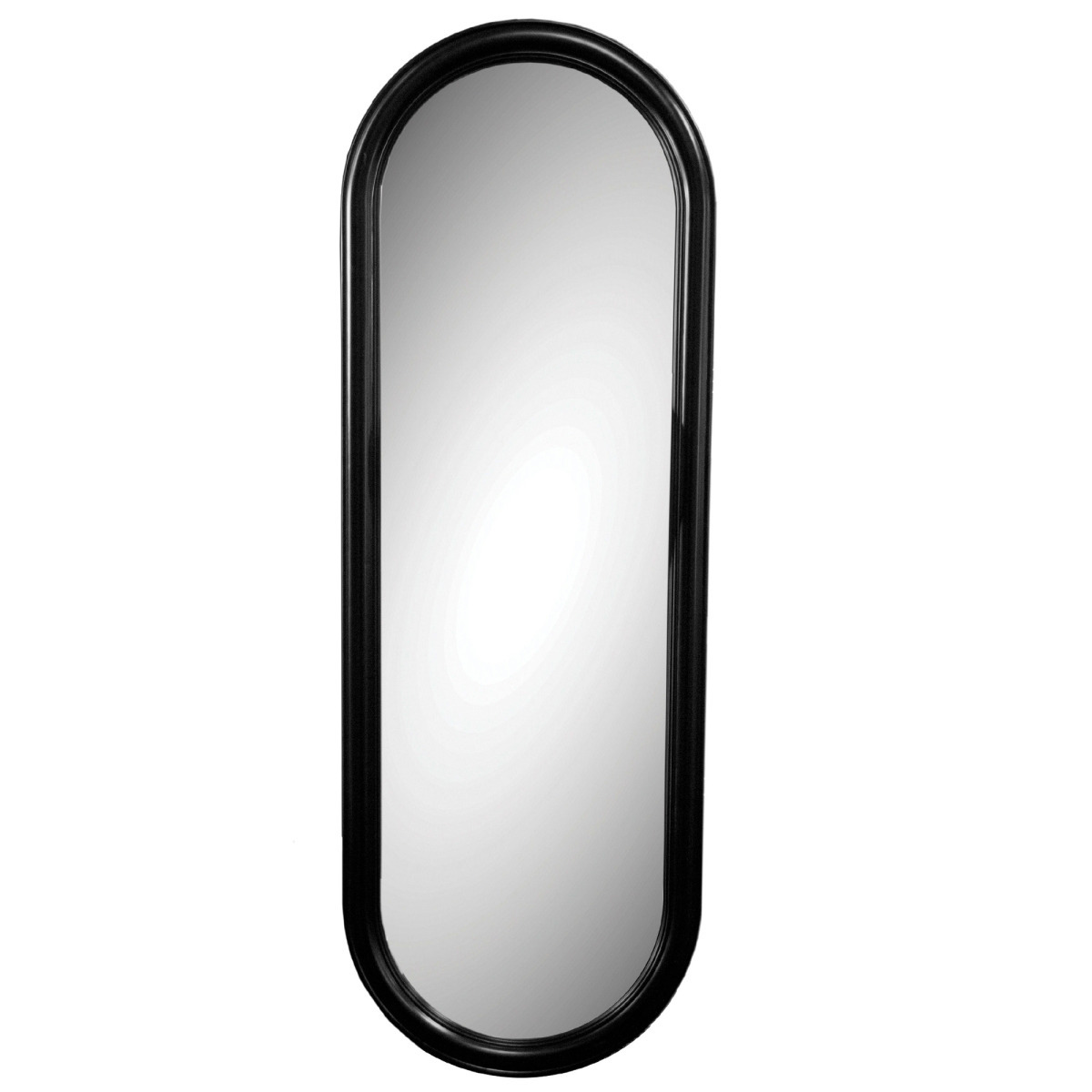 Black oval full length wall mirror april 2018 for Black full length wall mirror